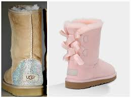 ugg bailey bow pink sale light baby pink ugg bailey bow boots with swarovski