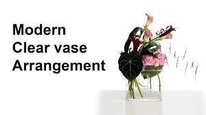 Modern Flower Vase Arrangements Modern Clear Vase Arrangement Calla Lilies Anthurium Leaves