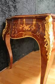 Schreibtisch Antik Louisxv Barock Antik U2013 Stil Schreibtisch Mksr0058 Skai Dunkel Braun