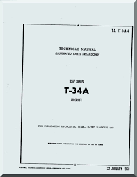 beechcraft t 34 a aircraft parts catalog manual 1960