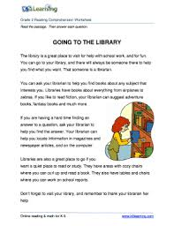 going to the library worksheets fill online printable fillable