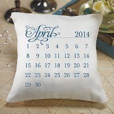 wedding pillow rings personalized calendar wedding ring bearer pillow