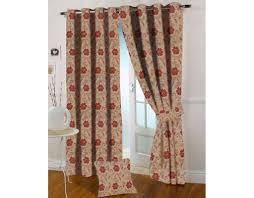 Maroon Curtains Online Presto Bazaar Maroon Colour Floral Jacquard Curtain India
