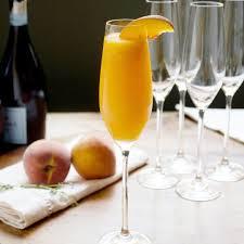 cocktail recipe peach thyme bellini kitchn