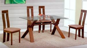 Used Table And Chairs Used Glass Top Dining Table And Chairs With Wooden Base Wrought
