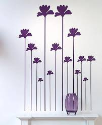 Wall Decoration Ideas Wall Decorating Pink And Purple Poppy