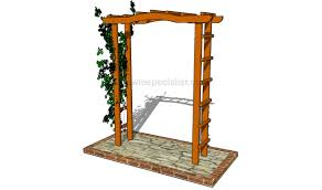 arbor swing plans garden arbor plans free howtospecialist how to build step by