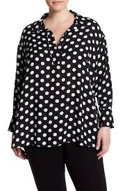 black polka dot blouse dr2 by daniel rainn polka dot blouse plus size nordstrom rack
