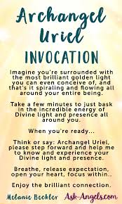white light healing prayer archangel uriel the archangel of the sun and light