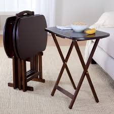 tv tray tables target furniture alluring tray table set target pc oak finish wood with