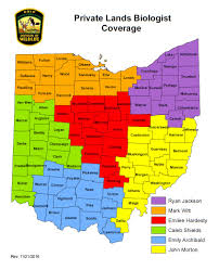 Delaware Ohio Map by Private Lands Management