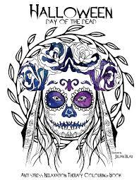 amazon com halloween day of the dead colouring book anti