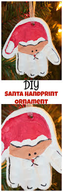 handprint santa ornament diy santa ornament with handprint