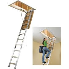 werner universal aluminum attic stairs ah2210 do it best