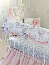 Boho Crib Bedding by Pink Gray Fawn Baby Bedding Set Girls Pink Deer Woodland Nursery