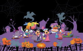disney halloween background images mickey and friends disney halloween 2560x1600