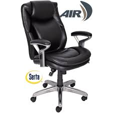 Executive Office Chairs Fabric Serta Air Health And Wellness Mid Back Office Chair Bonded Leather