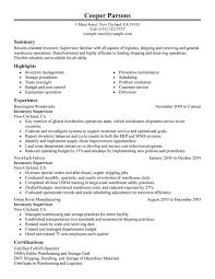 resume exles for warehouse unforgettable inventory supervisor resume exles to stand out