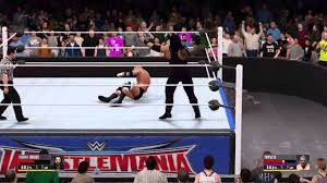 playstation 4 wrestlemania 32 review roman regins vs triple h at wrestlemania 32 youtube