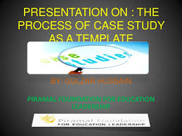 presentation on case study as a process template