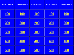 Powerpoint Template Jeopardy 28 Images 7 Blank Jeopardy Sle Ppt Templates