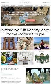 alternative registry wedding alternative gift and wedding registry ideas for the modern