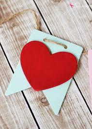 valentines banner craft idea diy xoxo banner