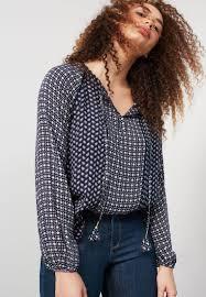 violeta by mango blouse dark blue women 100 top quality