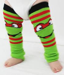Baby Ninja Halloween Costume Baby Toddler Ninja Turtle Baby Leg Warmers Raphael Red