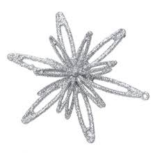 popular glitter snowflake ornaments buy cheap glitter snowflake