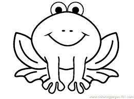Frog Coloring Pages Frog Coloring Coloring Page Cartoon Frog Frog Colouring Page