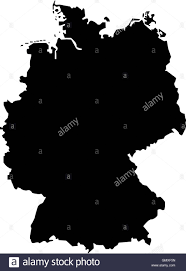 Germany Map by Germany Map Silhouette Icon Stock Vector Art U0026 Illustration