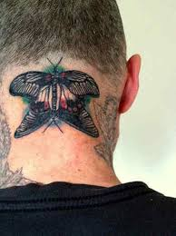 63 beautiful neck butterfly tattoos