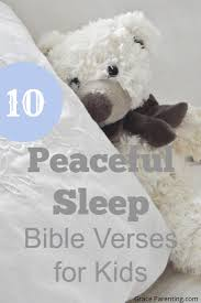 bible verses about peaceful sleep for preschoolers and kids
