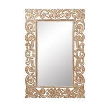 carved wood framed wall gold metallic mirrors wall decor the home depot