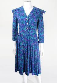 1940s dresses vintage blue and purple print day dress 1940s dress 40s