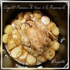 comment cuisiner un coquelet coquelet p de terre à la provençale recettes cookeo