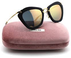 miu miu mu 10ns noir forties style black sand frame grey rose