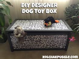 Homemade Toy Box by Diy Designer Dog Toy Box Kol U0027s Notes
