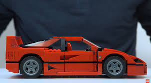 lego lamborghini life size lego creates awesome miniature ferrari f40 we love it