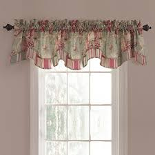shop waverly spring bling 18 in vapor cotton back tab valance at