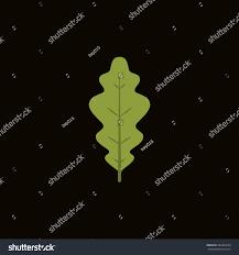 White Oak Leaf White Oak Leaf Icon Flat Style Stock Vector 482403634 Shutterstock
