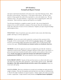 formal lab report template best of 8 formal lab report chemistry exle techmech co new 8