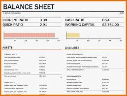 Balance Sheet Template Excel Free 6 Balance Sheet Template Excel Itinerary Template Sle