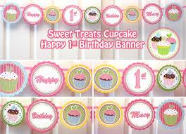 Diy 1st Birthday Centerpiece Ideas Cupcake Birthday Party Sweet Treats Cupcake Party Happy