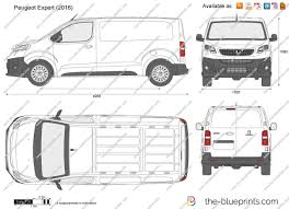 peugeot partner 2016 white the blueprints com vector drawing peugeot expert