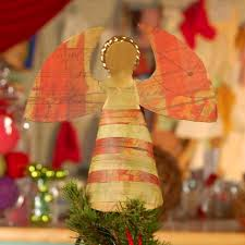 paper plate angel tree topper hgtv