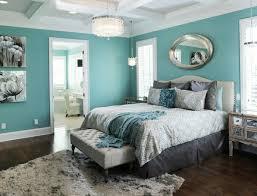 chambre noir et turquoise déco chambre turquoise peinture blanc et noir miroir ovale en