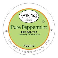 Decaf Pumpkin Spice Latte K Cups by Twinings Pure Peppermint Tea Keurig K Cups 12 Count Amazon Com