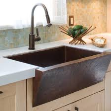 Bronze Kitchen Sink Faucets With Double Copper Farmhouse Sink And - Bronze kitchen sink faucets